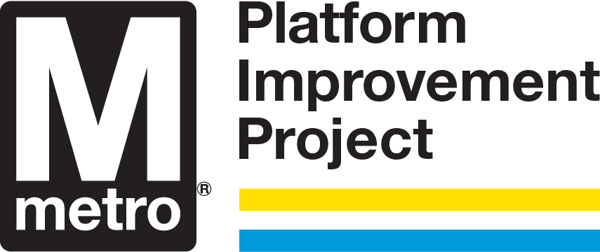 WMATA Platform Improvement Project logo