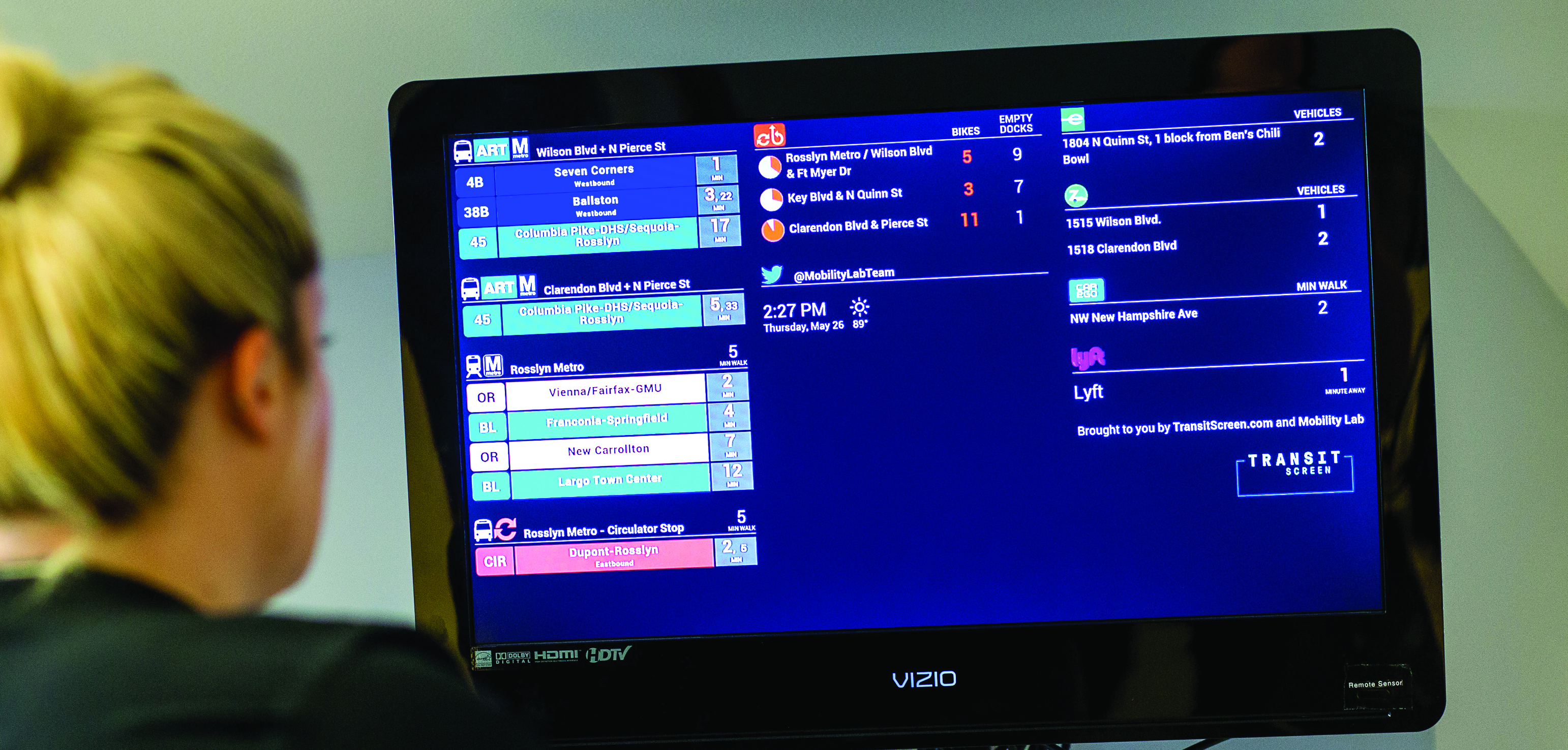 Get a FREE Transit Screen Feed